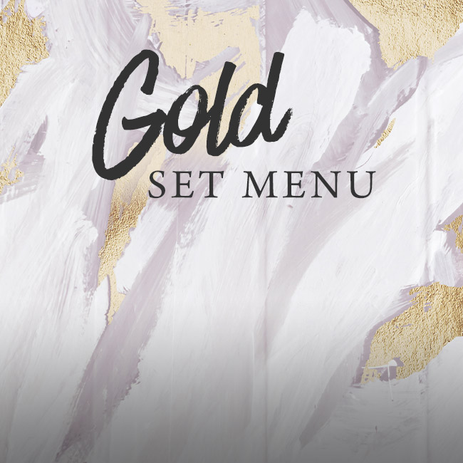 Gold set menu at The Chilworth Arms