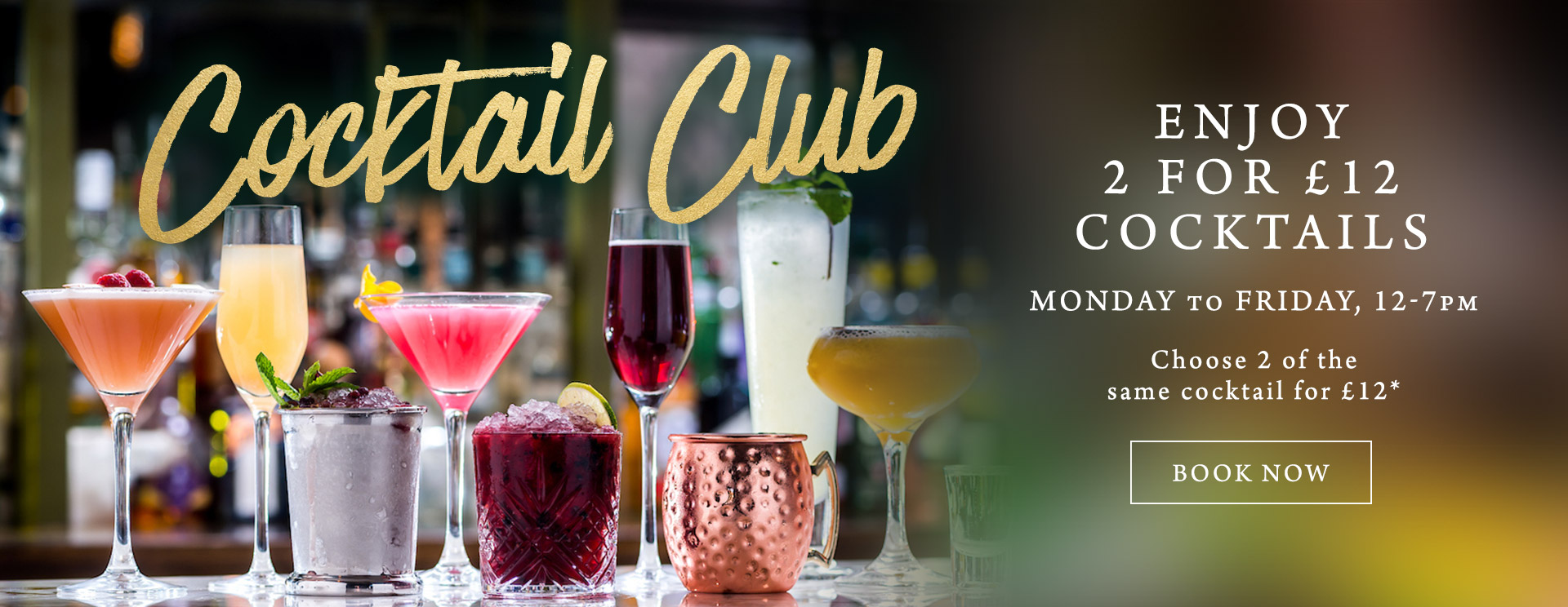 2 for £12 cocktails at The Chilworth Arms